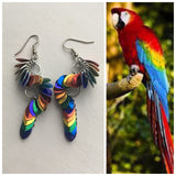 Macaw Earrings Rainbow