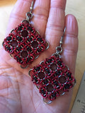 Byzantine 2 Square Earrings
