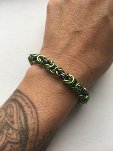 Byzantine Bracelet Light Green/Ice