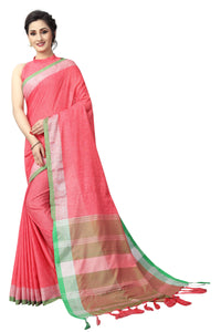 Filmnastics Red Linen Exclusive Designer Saree