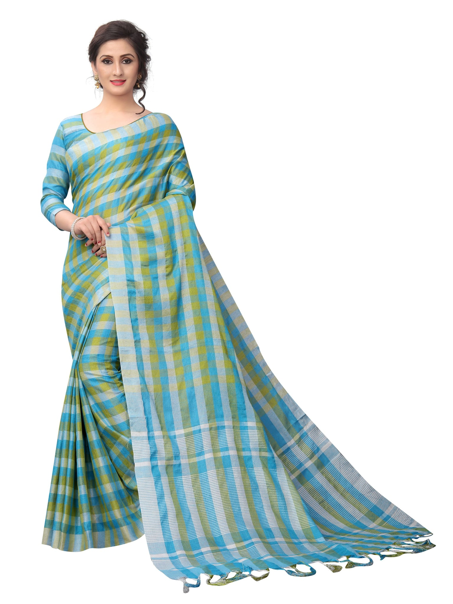 Breezz Rama Linen Exclusive Designer Saree