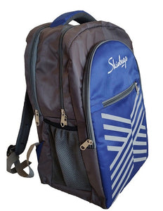Pretty Blue  & Grey Graphic Gravity Backpack And Laptop Bag