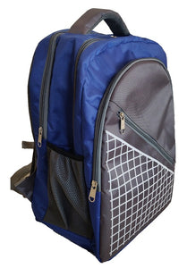 Pleasant Grey &  Blue Graphic Gravity Backpack And Laptop Bag