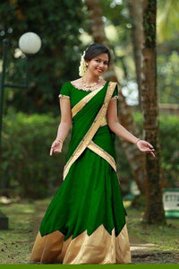 Colour Green Tapeta Silk Fancy Lehnga