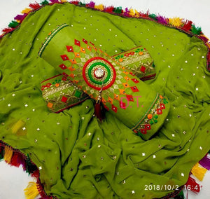 New Arriving Fancy Green Colour Cotton Embroidery Work  salwar suit