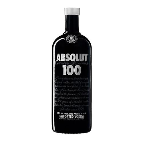 Absolut 100 proof 50° 1L-Ginsonline