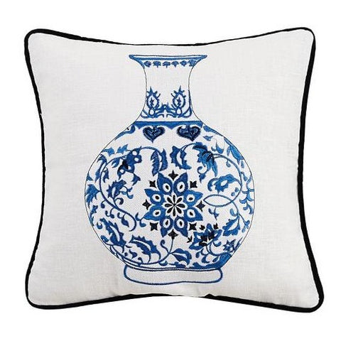 Blue and White Gourd Vase Pillow