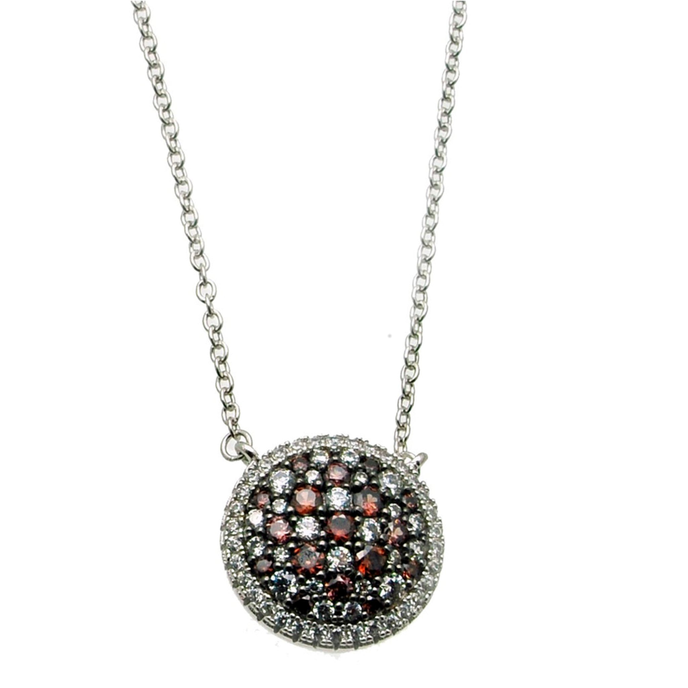 Pave Circle Pendant (see matching earrings BE130)
