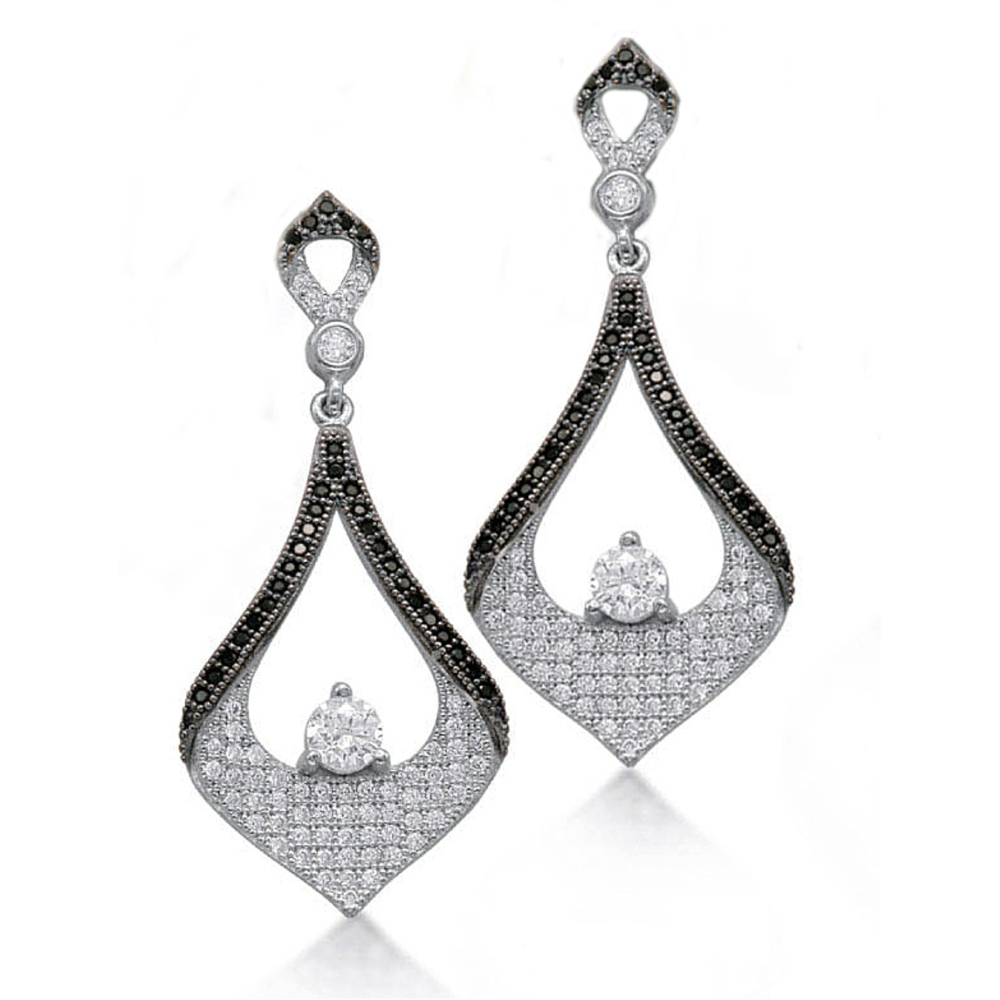Dramatic Blackberry Earrings (see matching necklace BP124)