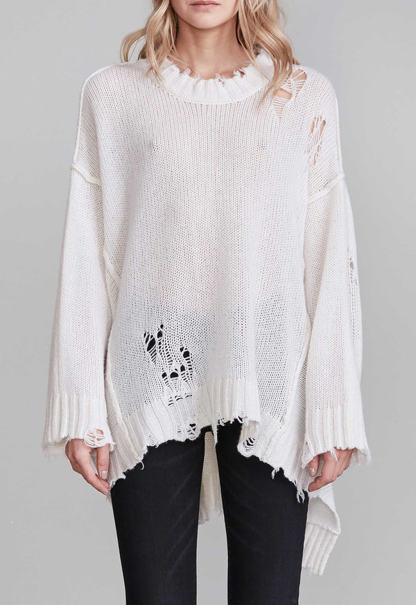 distressed cashmere patti sweater