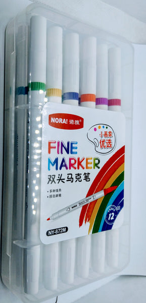 Sketch Marker 12 Colours 2in1 (NY-872M)