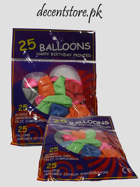 25 Colour Balloons
