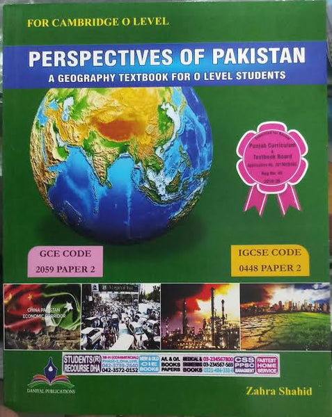 Perspectives of Pakistan Geography Textbook for Cambridge O Level (Zahra Shahid)