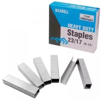 Heavy Duty Stapler Pins 23/17 Silver 17MM 1000 Pins