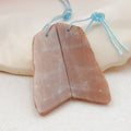 Sunstone Earrings Stone Pair, stone for earrings making, 39x15x3mm, 6.8g - MyGemGarden