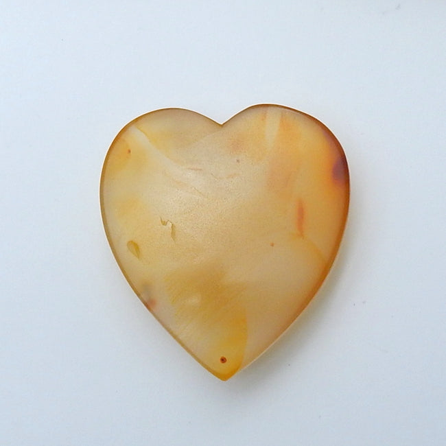 Natural Agate heart shape Cabochon, 50x45x14mm, 45g - MyGemGarden