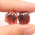 Garnet Irregular Earrings Stone Pair, stone for earrings making, 11x10x3mm, 1.6g