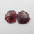 Garnet Irregular Earrings Stone Pair, stone for earrings making, 11x10x2mm, 1.5g