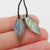 Labradorite Carved Leaf Earrings Stone Pair, 21x8x3mm, 1.7g