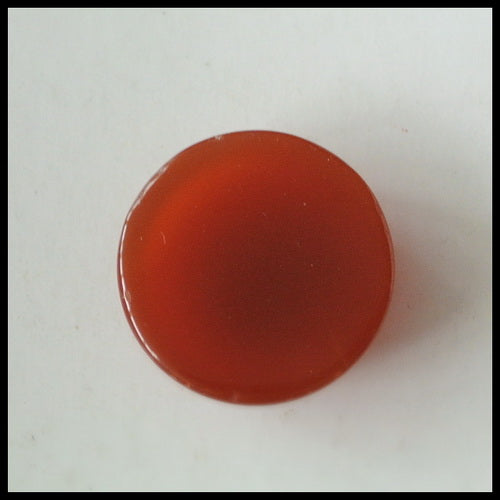 Natural Red Agate Gemstone 16mm Round Cabochon, 16x16x6mm, 2.2g - MyGemGarden