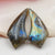 Labradorite Earrings Stone Pair, stone for earrings making, 41x19x7mm, 13.5g - MyGemGarden
