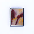 Natural Mookaite Jasper and Obsidian Glued Drilled Pendant Bead, 32x24x5mm, 10g - MyGemGarden