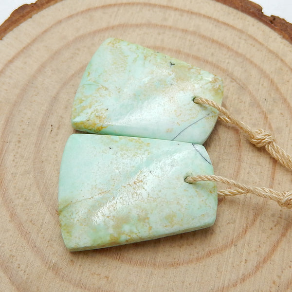 Natural Turquoise Earrings Pair, stone for Earrings making, 22x17x4mm, 4.7g - MyGemGarden