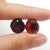Garnet Irregular Earrings Stone Pair, stone for earrings making, 13x11x3.5mm, 2.6g