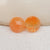 Round Agate Faceted Cabochon Pair, 8x3mm, 0.5g