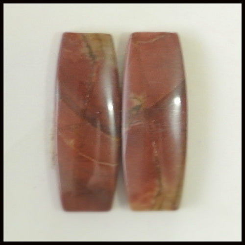 Natural Multi-Color Picasso Jasper Gemstone Cabochon Pair 25x9x4mm,4.08g - MyGemGarden