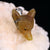 Yellow Opal Carved Wolf Head Necklace Pendant, 925 Sterling Silver Pinch Bail, 33x26x11mm, 9.6g