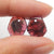 Garnet Irregular Earrings Stone Pair for earrings making, 12x10x3mm, 1.6g