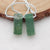 Octagon Green Moss Agate Gemstone Earrings Stone Pair, 30x12x4mm, 2.1g
