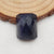 Jewelry Making Blue Goldstone Finger Rings Faceted Cabochons, 18x15x9mm, 2.7g