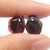 Garnet Irregular Earrings Stone Pair, stone for earrings making, 12x11x3mm, 1.4g