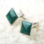 Chrysocolla With Sterling Silver Cufflinks Pairs, 18x18x5mm 15.9g - MyGemGarden
