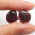 Garnet Irregular Earrings Stone Pair, stone for earrings making, 13x12x2mm, 1.9g
