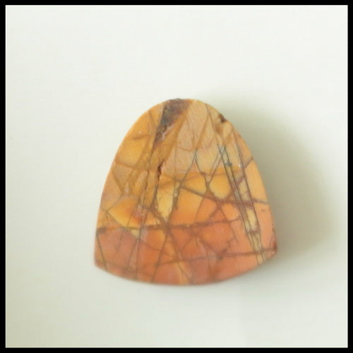 Natural Multi- Color Picasso Jasper Gemstone Cabochon, 19x18x4 mm, 2.8g - MyGemGarden