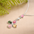 Natural Gemstone Tourmaline s925 Sterling Sliver Crystal Necklace Four-leaved Clover Shaped Diamond Jewelry, 19cm, 18x13x4mm, 3.6g