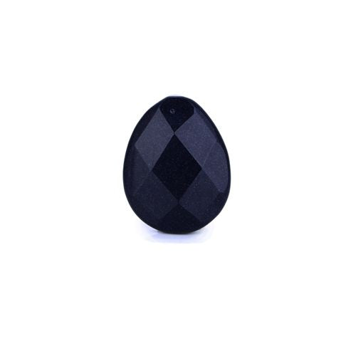 Shining Blue Goldstone  faceted Gemstone  Teardrop Pendant Pair Necklace,39x31x9mm,16g - MyGemGarden