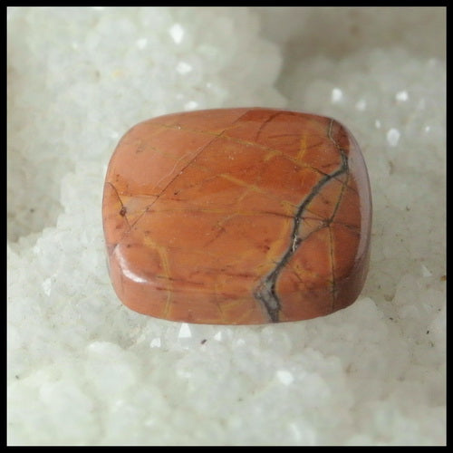 Natural Multi-Color Picasso Jasper Gemstone Cabochon, 20x20x5 mm,4.4g - MyGemGarden