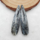 Blue Kyanite Teardrop Earrings Stone Pair, stone for earrings making, 42x10x3mm, 6.5g
