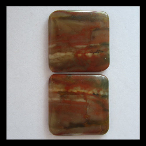 Picture Jasper Cabochon Pair 18x3mm,4.2g - MyGemGarden