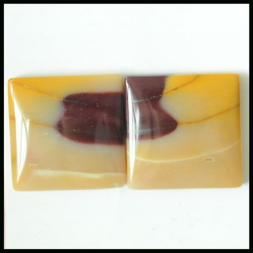 Gift From Natural Mookaite Jasper Cabochon Pair 18x4mm ,5.26g - MyGemGarden