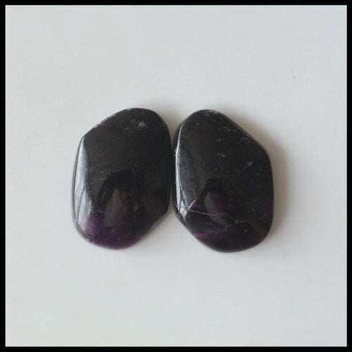 Natural Sugilite Gemstone Cabochon Pair, 16x11x4 mm, 3.1g - MyGemGarden