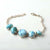 New Natural Stone larimar Handmade Sterling Silver 925 Fashion Buckle Bracelet, 18cm, 11.9g