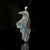 New! Natural Labradorite Gemstone 925 Sterling Silver Eagle Pendant, 83x40x12mm, 43.8g