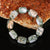 New!Natural Ocean Jasper Loose Beaded Elastic Bracelet, Catenary Jewelry, 20x15mm, 6x6mm, 69.3g