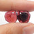 Garnet Irregular Earrings Stone Pair, stone for earrings making, 13x11x3mm, 2.0g
