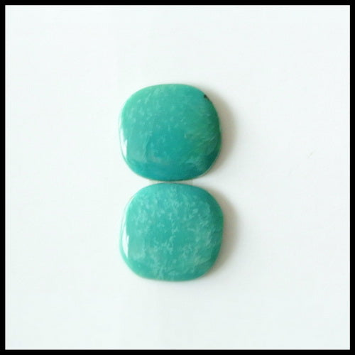 Natural Turquoise Gemstone Cabochon Pair 10x9x2mm,1.21g - MyGemGarden